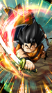 DB Legends Yajirobe (DBL39-02E) Miracle Sumo Slash (Yajirobe VS Great Ape Vegeta - Character Illustration)