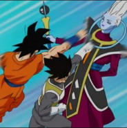 Goku y Vegeta vs Wiss