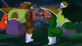 Cooler on his throne, his Armored Squadron and their flag on his unnamed planet