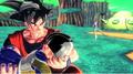 Goku holds dead kid gohan who was killed by fireza