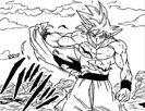 UI Goku tearing Gi