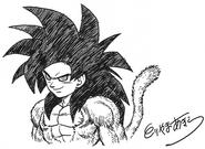 Goku ssj4 (hecho por toriyama)