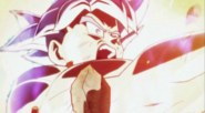 Goku egoísta recibe el Impacto de Poder de Jiren
