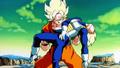 Goku holding Vegeta