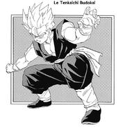 Son Gohan - Super Saiyajin à pleine puissance (Manga) 02.png
