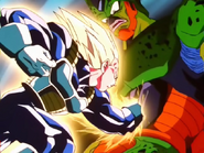 Vegeta attacca Cell