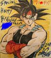 Masaki Sato's drawing of Bardock for the TV Special's anniversary, September 9th, 2018