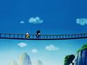 Walking across a bridge