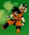 Gohan, Defeat Your Dad!! - Krillin attacks