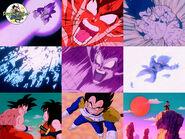 Goku Kaio Ken x4 vs Vegeta