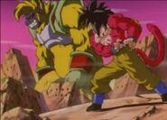 Goku Super Saiyan 4 vs Baby Vegeta Ōzaru Dorado (4)