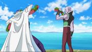 Tagoma le quita un brazo a Piccolo