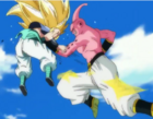 Super buu punchs gotenks in the stomach