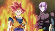 Goku Super Saiyan Dios y Hit
