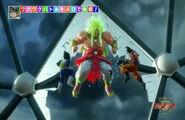 Goku and Vegeta vs God Broly