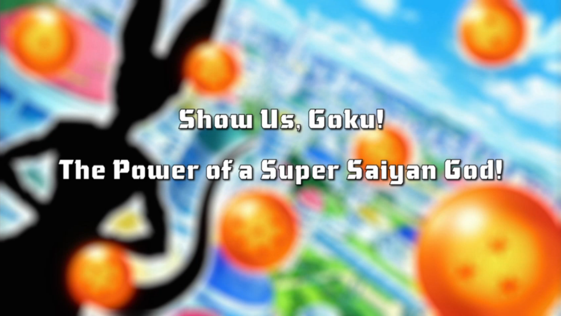 Show Us, Goku! The Power of a Super Saiyan God!