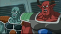 DXRD Caption of shocked Sorbet's soldier & Shisami due to Frieza's attacks on Tagoma