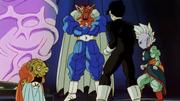 Gohan and Shin confront Babidi and Dabura.png