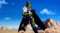 Android Explosion - Cell grabs Gohan