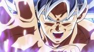 Goku prepares the ultimate instinct kamehameha