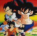 Toei promo art Frieza Saga Z-Fighters Yamcha stars