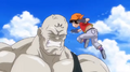 Dragon Ball Heroes trailer - GT aged Pan pounches Spopovitch in his face at the Tenkaichi Budokai
