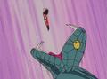 Princess Snake attempts to consume Goku