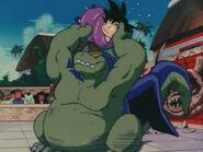 Giran Luchando con Goku