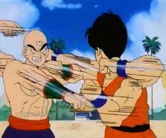 Yamcha Contra Tenshinhan Dragon Ball Wiki Brasil Fandom
