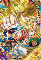 SDBH World Mission Card UM1-CP5 Super Saiyan Gogeta card (UVM Set 1 - CAA Special Ability - Dynamic EX Dragon Fist)