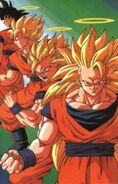Three Super Saiyans Stage of Son Goku
