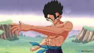 Gohan training himself