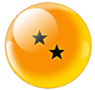 Two-Star Black Star Dragonball (Xz)