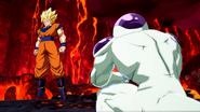 Goku faced to faced Frieza