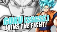 Goku (SSGSS) Joins The Fight!