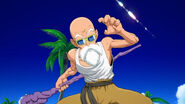 Master Roshi using his weapon