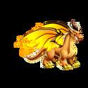 Flame Dragon Golden Flame