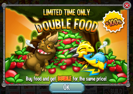 Double limited food offer