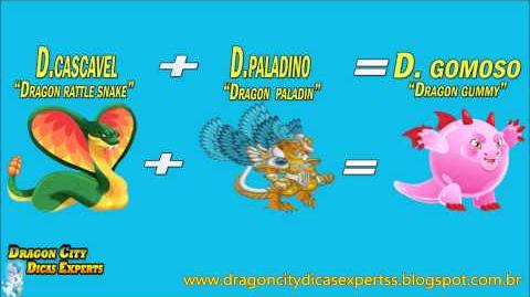 "Dragon City Como fazer Dragão Gomoso ""Dragon City how to make Gummy Dragon"""