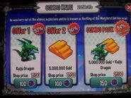 Kaiju Offer in Mobile
