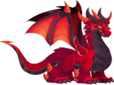Dragón Rojo Intenso