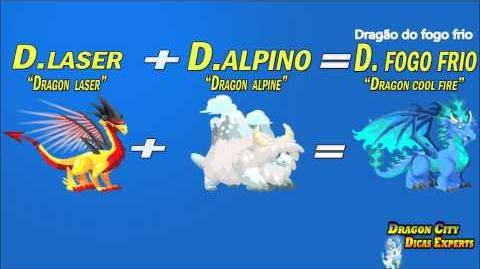 "Dragon City como fazer dragão do fogo frio ""Dragon city How to get coll fire dragon"""