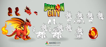 Flame Dragon Design