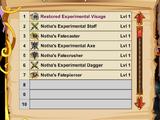 Notha's Experiments