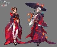 Nanami Sakurai and Chime Gen