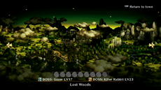 Lost Woods at the stage selection screen.