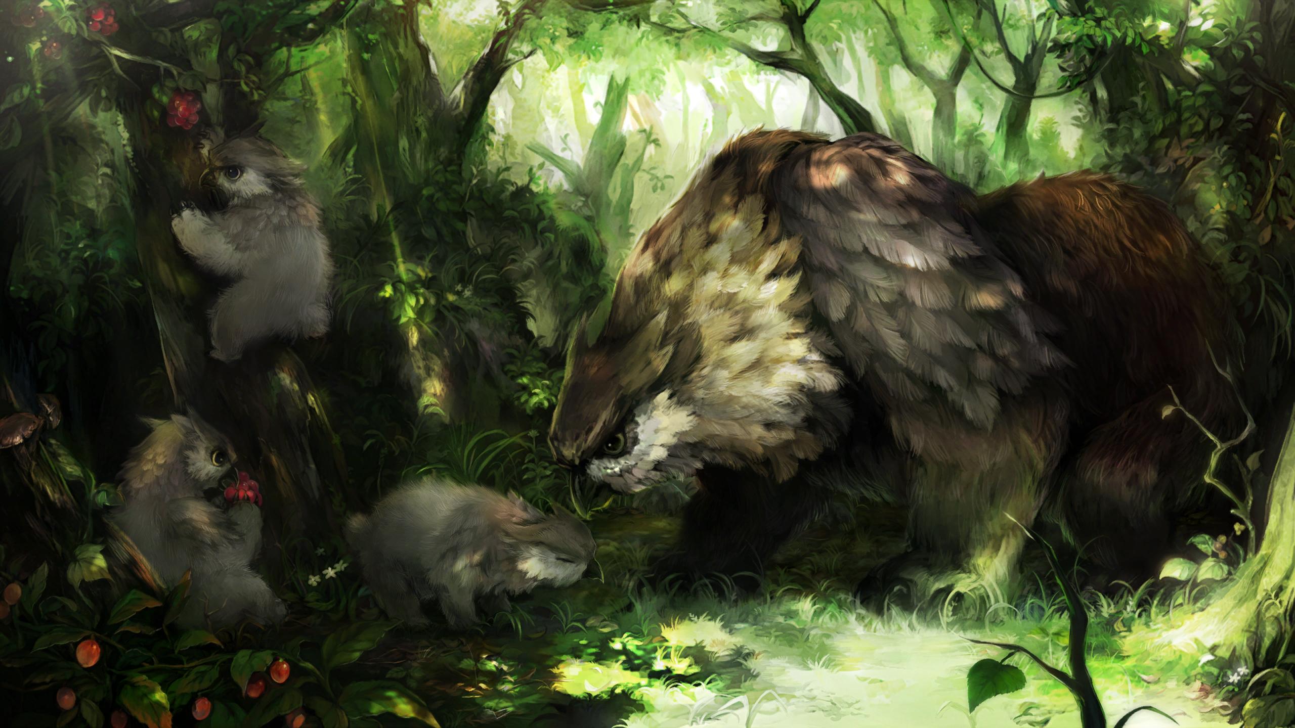 Owlbear Parent and Cub