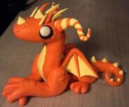 Orange and yellow dragon