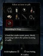 Gifting menu