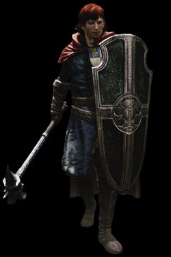 The default Arisen as a Mystic Knight.